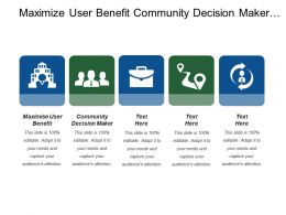 Maximize User Benefit Community Decision Maker Ways Working