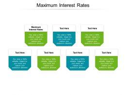 Maximum Interest Rates Ppt Powerpoint Presentation Icon Visuals Cpb