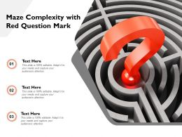 Maze Complexity With Red Question Mark
