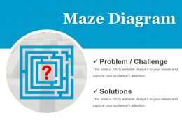 Maze Diagram For Business Problem Statement Powerpoint Graphics