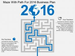 Maze With Year 2016 Business Plan Ppt Presentation Slides