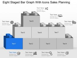 Mb Eight Staged Bar Graph With Icons Sales Planning Powerpoint Template Slide