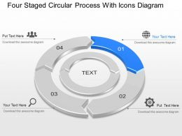 Mb Four Staged Circular Process With Icons Diagram Powerpoint Template Slide