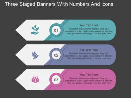 mb Three Staged Banners With Numbers And Icons Flat Powerpoint Design
