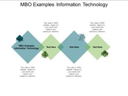 MBO Examples Information Technology Ppt Powerpoint Presentation Styles Cpb