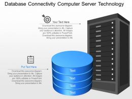 mc Database Connectivity Computer Server Technology Powerpoint Template