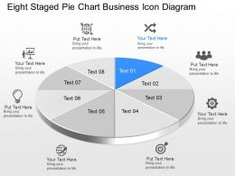 Mc Eight Staged Pie Chart Business Icon Diagram Powerpoint Template Slide
