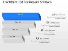 mc Four Staged Text Box Diagram And Icons Powerpoint Template