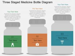 mc Three Staged Medicine Bottle Diagram Flat Powerpoint Design