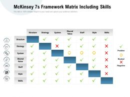 Mckinsey 7s Framework Matrix Including Skills