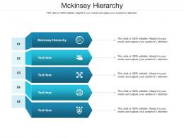 Mckinsey Hierarchy Ppt Powerpoint Presentation Pictures Slides Cpb