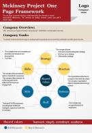 Mckinsey Project One Page Framework Presentation Report Infographic PPT PDF Document