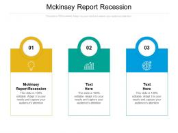 Mckinsey Report Recession Ppt Powerpoint Presentation Inspiration Ideas Cpb