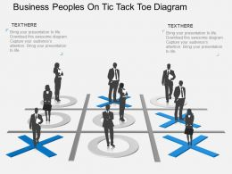md Business Peoples On Tic Tack Toe Diagram Flat Powerpoint Design