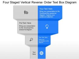 md Four Staged Vertical Reverse Order Text Box Diagram powerpoint template