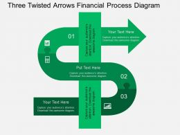 md Three Twisted Arrows Financial Process Diagram Flat Powerpoint Design