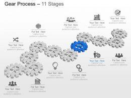 89116933 Style Variety 1 Gears 11 Piece Powerpoint Presentation Diagram Infographic Slide