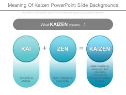 Meaning Of Kaizen Powerpoint Slide Backgrounds