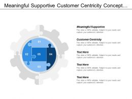 Meaningful Supportive Customer Centricity Concept Marketing Management Content Marketing