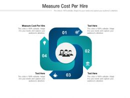 Measure Cost Per Hire Ppt Powerpoint Presentation Show Design Ideas Cpb