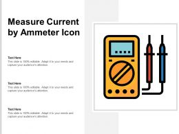 Measure Current By Ammeter Icon