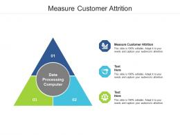 Measure Customer Attrition Ppt Powerpoint Presentation Inspiration Influencers Cpb