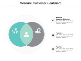 Measure Customer Sentiment Ppt Powerpoint Presentation Pictures Mockup Cpb
