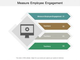 Measure Employee Engagement Ppt Powerpoint Presentation Gallery Backgrounds Cpb