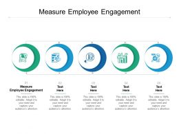 Measure Employee Engagement Ppt Powerpoint Presentation Inspiration Deck Cpb