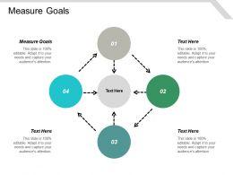 Measure Goals Ppt Powerpoint Presentation Icon Design Inspiration Cpb