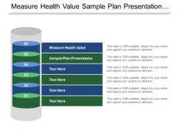 Measure Health Value Sample Plan Presentation Questionnaires Measure Impact