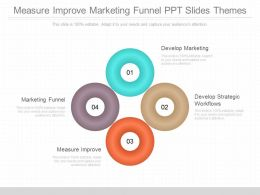 Measure Improve Marketing Funnel Ppt Slides Themes