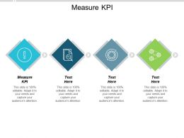 Measure KPI Ppt Powerpoint Presentationmodel Brochure Cpb