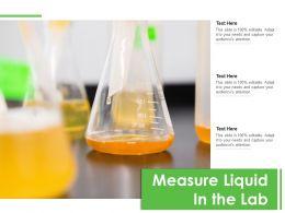 Measure Liquid In The Lab