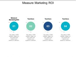 Measure Marketing ROI Ppt Powerpoint Presentation Slides Portrait Cpb
