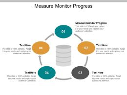 Measure Monitor Progress Ppt Powerpoint Presentation Good Cpb