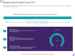 Measure Net Promoter Score Customers Ppt Powerpoint Presentation Summary Background Images