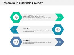 Measure PR Marketing Survey Ppt Powerpoint Presentation Show Samples Cpb