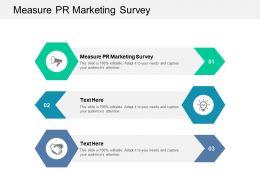 Measure PR Marketing Survey Ppt Powerpoint Presentation Show Samples Cpb