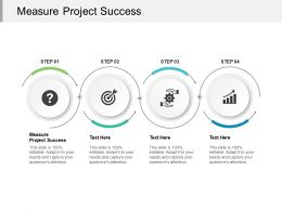 Measure Project Success Ppt Powerpoint Presentation Slides Portfolio Cpb