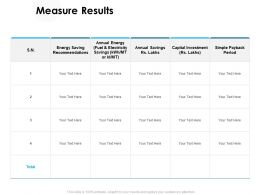 Measure Results Investment Ppt Powerpoint Presentation Pictures Sample