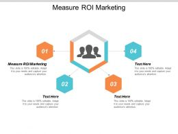 Measure ROI Marketing Ppt Powerpoint Presentation Styles Master Slide Cpb
