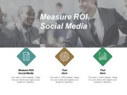 Measure ROI Social Media Ppt Powerpoint Presentation Gallery Aids Cpb