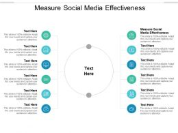 Measure Social Media Effectiveness Ppt Powerpoint Presentation Ideas Templates Cpb