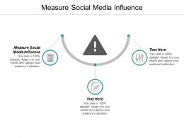 Measure Social Media Influence Ppt Powerpoint Presentation Ideas Portrait Cpb