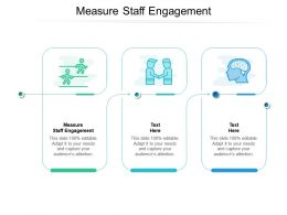 Measure Staff Engagement Ppt Powerpoint Presentation Show Examples Cpb
