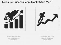 Measure Success Icon Rocket And Men