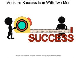 Measure Success Icon With Two Men