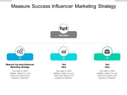 Measure Success Influencer Marketing Strategy Ppt Powerpoint Presentation Icon Outfit Cpb