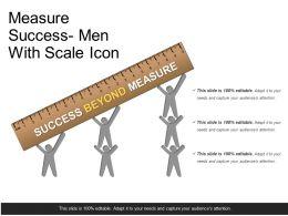 Measure Success Men With Scale Icon